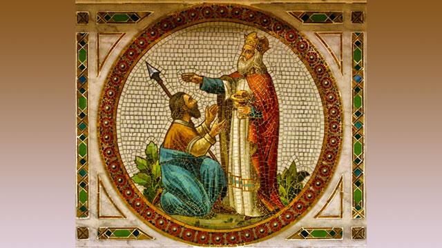 Saint Melchizedek from a mosaic