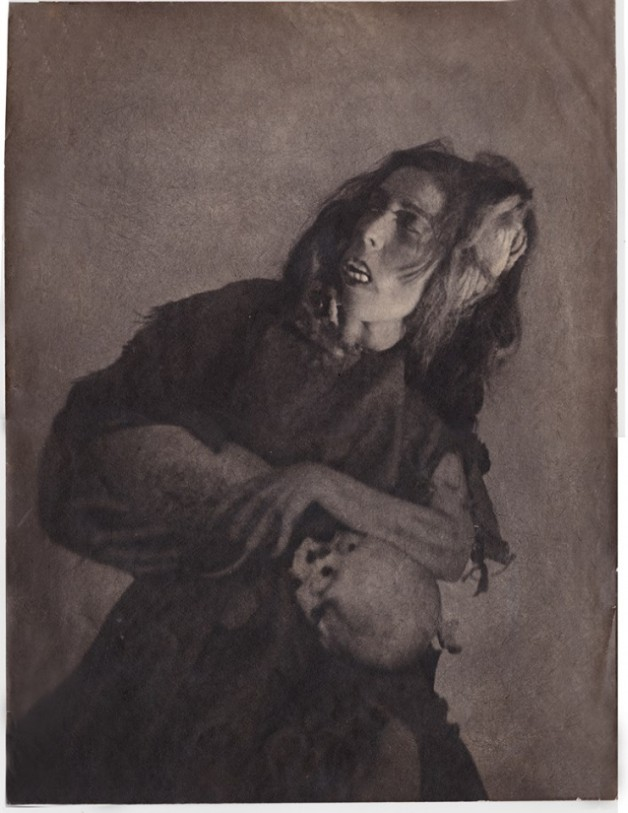 "William Mortensen  ""Woman with Skull"""