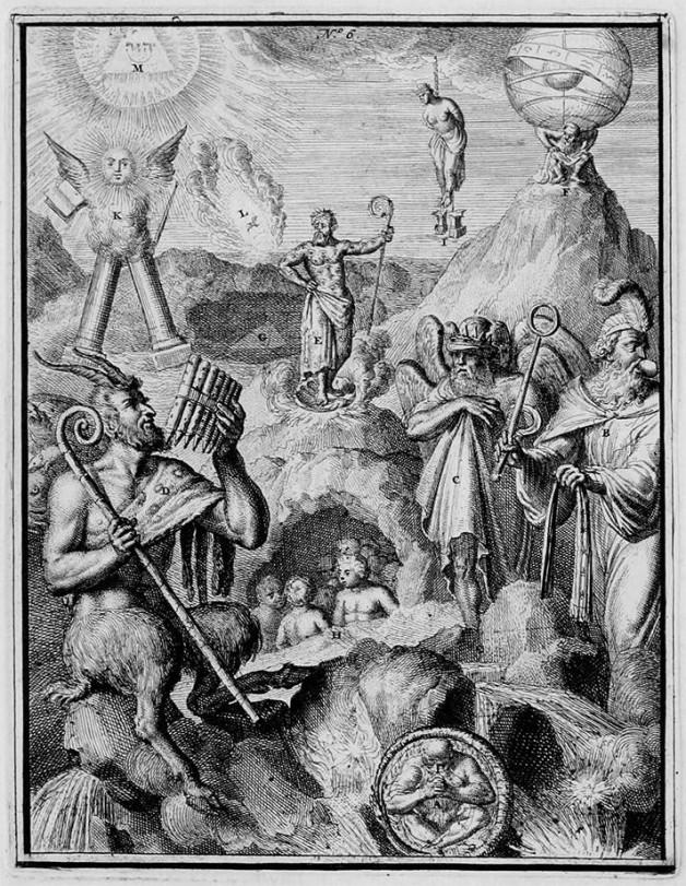 Romeyn de Hooghe DIVISION OF CHAOS-HYROGLYPHIC-SYMBOL -- 1735