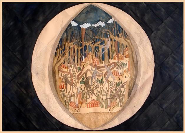 "Rithika Merchant ""Orbiter"" 2015 — at Stephen Romano Gallery."