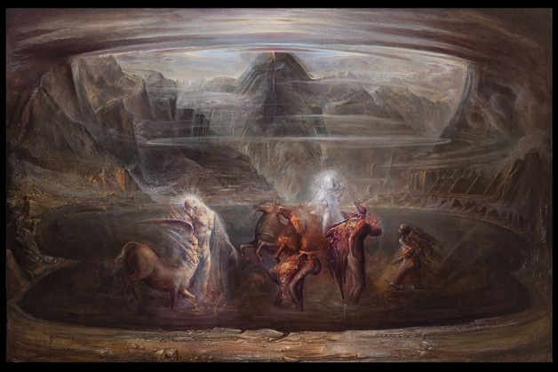 """Albedo"" olio su lino cm 135 x 200 x 4. Agostino Arrivabene"