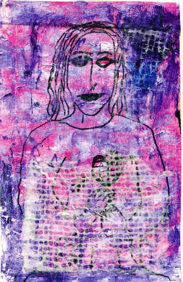 Erzulie la Mère- tristesse, la Déesse-triste,Michael Bertiaux