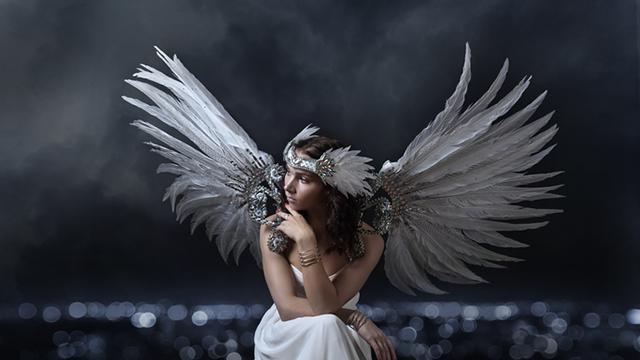 A contemplative angel