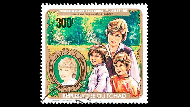 Lady Diana stamp