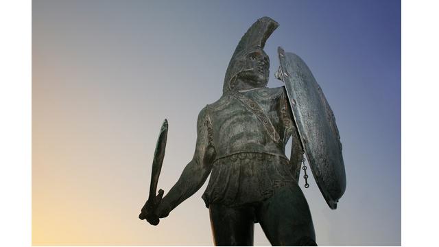 Statue portraying Leonidas I