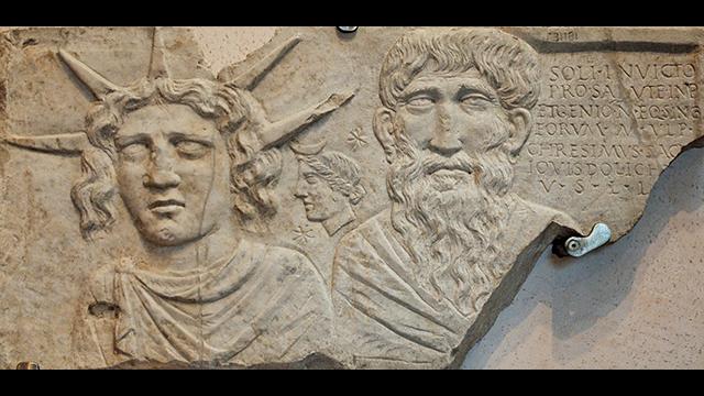 A Roman stele of Sol Invictus