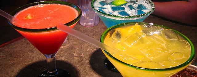 three varieties of margaritas