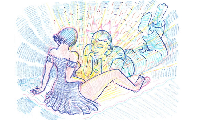 An image from Utopian Erotic, Fellow Being Radiated by Babe's Orgasm