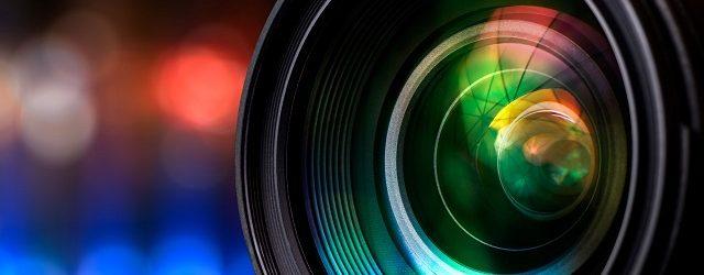 Close up view of a camera