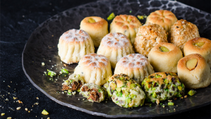 maamoul -- pastry with pistachios