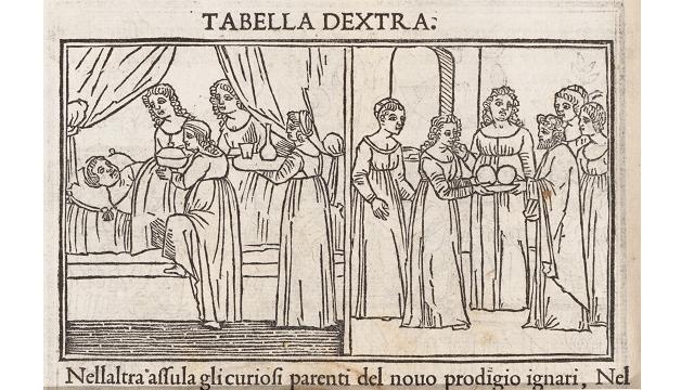 Tabella Dextra, a scene from Hypnerotomachia Poliphili