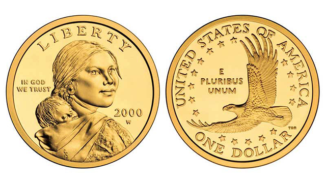 Sacagawea Gold Dollar Coin