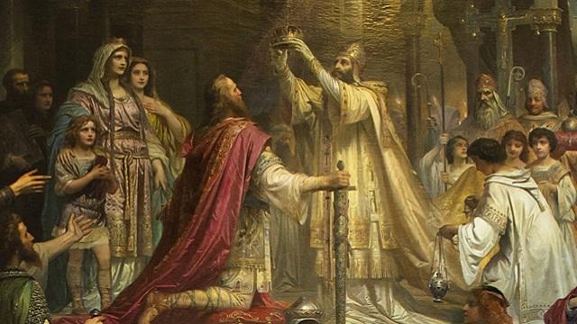 Charlemagne Coronation by Theodor Friedrich Wilhelm Christian Kaulbach, 1861