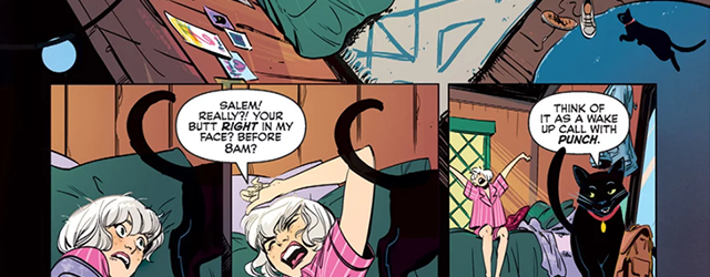 A scene from the new Sabrina comic