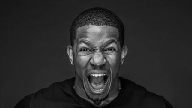 A shouting person